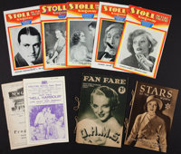"""Program Lot (Various Theatres, 1929-1934). British Theatre Programs (9)(Multiple Pages, 5"""" X 8"""" to 6"""" X 9..."""