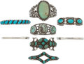 American Indian Art:Jewelry and Silverwork, EIGHT NAVAJO SILVER BRACELETS. c. 1940 - 1960... (Total: 8 Items)