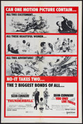 """Movie Posters:James Bond, Thunderball/You Only Live Twice Combo (United Artists, 1970). One Sheet (27"""" X 41""""). James Bond.. ..."""