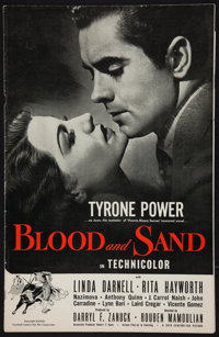 """Blood and Sand (20th Century Fox, 1941). Pressbook (36 Pages, 11"""" X 17""""). Drama"""