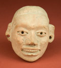 American Indian Art:Pottery, Large Solid Huastec Head Fragment...