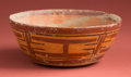 American Indian Art:Pottery, Maya Polychrome with Entwined Glyphs...