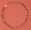 Antiques:Antiquities, Carnelian Tube Bead Necklace...