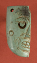 American Indian Art:Pottery, Pre-Classic Maya Half Face Pendant...