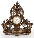 Decorative Arts, French:Other , NAPOLEON III STYLE GILT BRONZE FOLIATE CLOCK, DIAL SIGNEDC.DETOUCHE, FUR DE S. N. L'EMEERUR, A PARIS. France, l...