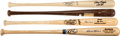 Baseball Collectibles:Bats, Aaron, Killebrew, Ozzie Smith and Bench Signed Bats Lot of 4....