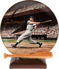 Baseball Collectibles:Others, Joe DiMaggio Signed Plate....