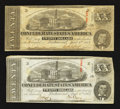 Confederate Notes:1863 Issues, T58 $20 1863 Two Examples.. ... (Total: 2 notes)