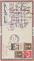 Autographs:Celebrities, Amelia Earhart Air Mail Envelope Signed,...