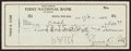 Baseball Collectibles:Others, 1949 Ty Cobb Signed Check....