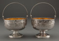Silver Holloware, American:Baskets, A PAIR OF GORHAM SILVER AND SILVER GILT ST. CLOUD PATTERNSUGAR BASKETS . Gorham Manufacturing Co., Providence,... (Total: 2Items)