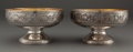 Silver Holloware, American:Berry Bowls, A PAIR OF GORHAM SILVER AND SILVER GILT BERRY BOWLS . Gorham Manufacturing Co., Providence, Rhode Island, circa 1885. Marks:... (Total: 2 Items)