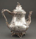 Silver Holloware, American:Tea Pots, A GORHAM SILVER TEAPOT . Gorham Manufacturing Co., Providence,Rhode Island, circa 1865. Marks: GORHAM & CO., PROVIDENCE,...