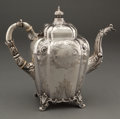 Silver & Vertu:Hollowware, A GALE & HAYDEN COIN SILVER SQUARED TEAPOT . Gale & Hayden, New York, New York, circa 1845 . Marks: G&H. 10 inches high ...