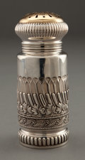 Silver Holloware, American:Other , A GORHAM SILVER AND SILVER GILT SUGAR SHAKER . Gorham ManufacturingCo., Providence, Rhode Island, circa 1880. Marks: (lion-...