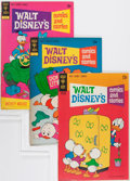 Bronze Age (1970-1979):Cartoon Character, Walt Disney's Comics and Stories File Copy Group (Gold Key,1970-80) Condition: Average VF+.... (Total: 55 Comic Books)