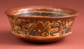 "American Indian Art:Pottery, Maya ""Copador"" Bowl with Turkeys and Men..."