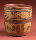 American Indian Art:Pottery, Petite Maya Painted Cup...