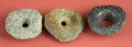American Indian Art:Pottery, Group of Three Large Maya Earflares... (Total: 3 Items)