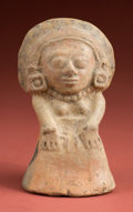 American Indian Art:Pottery, Molded Maya Seated Priestess...