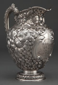 Silver Holloware, American:Pitchers, A GORHAM SILVER PITCHER . Gorham Manufacturing Co., Providence,Rhode Island, circa 1895. Marks: (lion-anchor-G) STERLING...