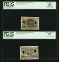Fractional Currency:Second Issue, Fr. 1244SP 10¢ Second Issue Experimental Face PCGS Apparent Very Choice New 64. Fr. 1314SP 50¢ Second Issue Experimental F... (Total: 2 notes)