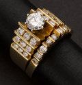 Estate Jewelry:Rings, Superb Gold & Diamond Ring. Gold & Diamond Ring. ...