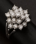 Estate Jewelry:Rings, Vintage Gold & Diamond Cluster Ring. ...