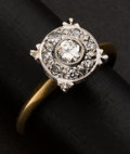 Estate Jewelry:Rings, Antique Gold & Diamond Ring. ...