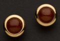Estate Jewelry:Earrings, Carnelian & Gold Earrings. ...