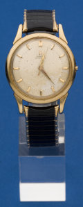 Timepieces:Wristwatch, Omega 14k Gold Automatic Wristwatch For Repair. ...