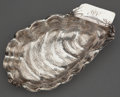 Silver & Vertu:Hollowware, A WOOD & HUGHES SILVER SHELL FORM ALMOND DISH . Wood & Hughes, New York, New York, circa 1885. Marks: W&H, STERLING, 1...