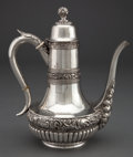 Silver Holloware, American:Tea Pots, A J.H. JOHNSTON SILVER BLACK COFFEE POT . J.H. Johnston & Co.,New York, New York, circa 1880. Marks: J.H. JOHNSTON,STERL...