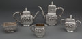 Silver Holloware, American:Tea Sets, A GORHAM FIVE-PIECE SILVER TEA AND COFFEE SERVICE . GorhamManufacturing Co., Providence, Rhode Island, circa 1894. Marks:(... (Total: 5 Items)