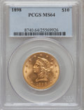 Liberty Eagles: , 1898 $10 MS64 PCGS. PCGS Population (60/9). NGC Census: (95/37). Mintage: 812,197. Numismedia Wsl. Price for problem free N...