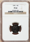 Proof Barber Dimes: , 1902 10C PR64 NGC. NGC Census: (70/69). PCGS Population (74/42).Mintage: 777. Numismedia Wsl. Price for problem free NGC/P...