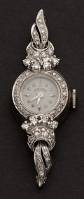 Estate Jewelry:Watches, Hamilton 14k White Gold & Diamond Watch. ...
