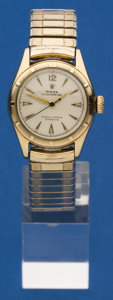 Timepieces:Wristwatch, Rolex 10k Gold Reference 6007 Automatic Wristwatch. ...