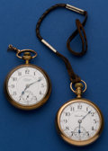 Timepieces:Pocket (post 1900), Hamilton 21 Jewel 940 & Private Label 17 Jewel Pocket Watches.... (Total: 2 Items)