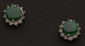 Estate Jewelry:Earrings, Jade & Diamond Earrings. ...