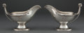 Silver Holloware, American:Sauce Boats, A PAIR OF JOHN WENDT SILVER GRAVY BOATS . John R. Wendt & Co.,New York, New York, circa 1870. Marks: BALL, BLACK & CO,N... (Total: 2 Items)