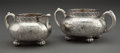 Silver Holloware, American:Creamers and Sugars, A GORHAM SILVER CREAMER AND SUGAR . Gorham Manufacturing Co.,Providence, Rhode Island, 1886. Marks: (lion-anchor-G), STER...(Total: 2 Items)