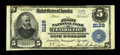 National Bank Notes:Colorado, Central City, CO - $5 1902 Plain Back Fr. 604 The First NB Ch. #2129. ...