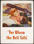 Movie Posters:Drama, For Whom the Bell Tolls (Paramount, 1943). Program (Multiple Pages). Drama. ...
