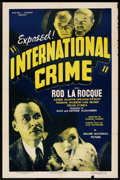 "Movie Posters:Adventure, International Crime (Grand National, 1938). One Sheet (27"" X 41"").Adventure. ..."