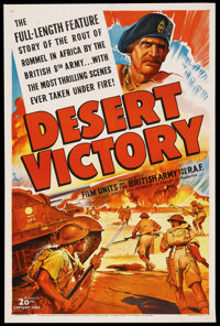 "Desert Victory (20th Century Fox, 1943). One Sheet (27"" X 41""). War Documentary"