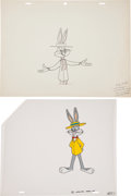 Animation Art:Limited Edition Cel, Bugs Bunny Animation Production Cel and Drawing Original Art(Warner Bros., undated).... (Total: 2 Original Art)
