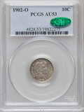 Barber Dimes: , 1902-O 10C AU53 PCGS. CAC. PCGS Population (4/65). NGC Census:(1/76). Mintage: 4,500,000. Numismedia Wsl. Price for proble...