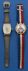 Timepieces:Wristwatch, Space Ranger Rocky Jones Character & Uncle Sam Wristwatches Runners. ... (Total: 2 Items)