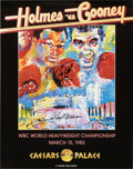 Boxing Collectibles:Autographs, LeRoy Neiman And Larry Holmes Dual Signed Fight Poster.. ...